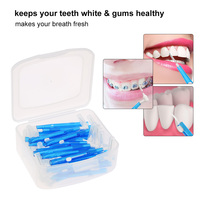 35pcs Toothpicks 3 In 1 Interdental Brushes Tooth Flossing Head Oral Dental Hygiene Brush