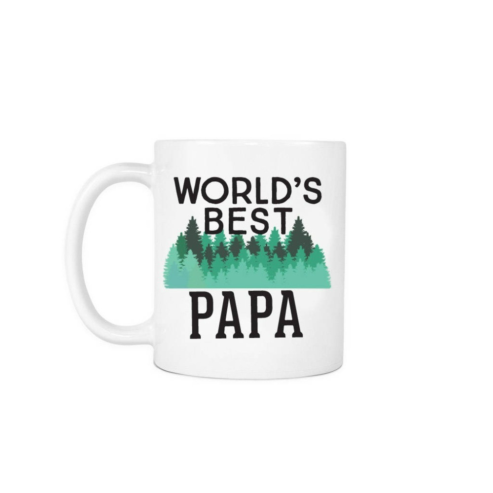 Worlds Best Papa Mugs Beer Travel Milk Cup Porcelain Coffee Mug Tea Cups Home Decor Novelty Friend Gift Birthday Gifts image
