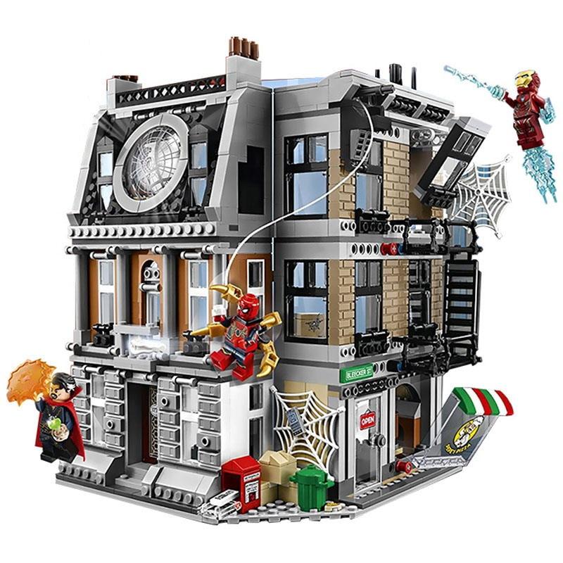 10840 Marvel Avengers Infinity War Sanctum Sanctorum Showdown Iron Man Spidermans Building Block Toys Compatible Lepining