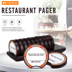 Retekess TD162 Pager Restaurant Wireless Calling System With 10 Buzzers For Restaurant Clinic Coffee Shop Paging System