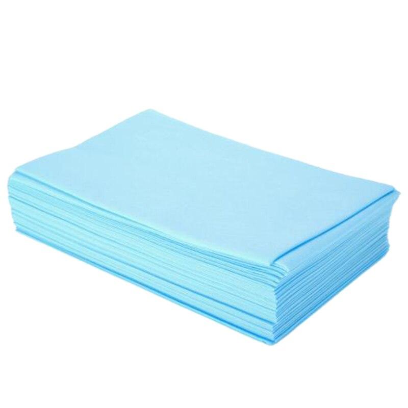100Pcs/Set Disposable Thicken Non-Woven Beauty Salon Massage Bed Cover Sheets, 80X180cm,Blue