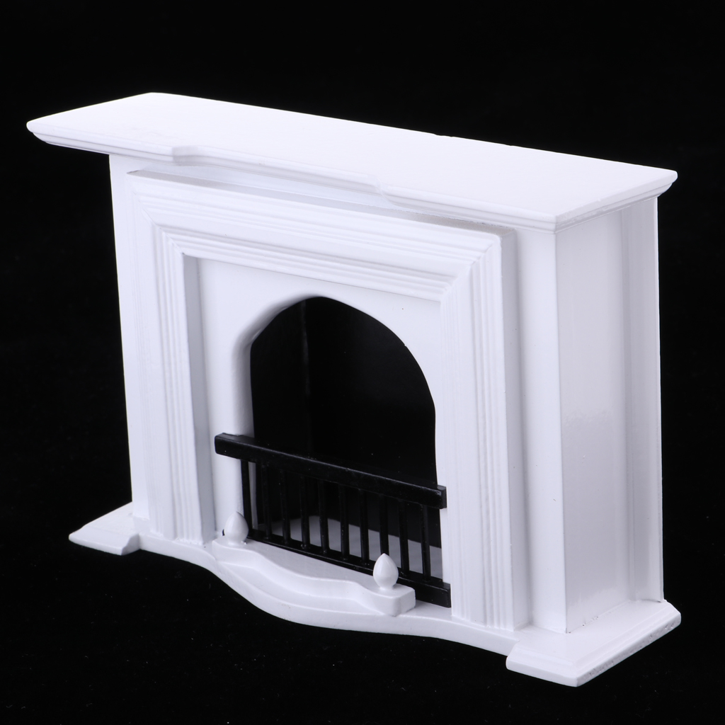 1//12 Dollhouse Furniture European Style Wooden Fireplace Living Room Decoration