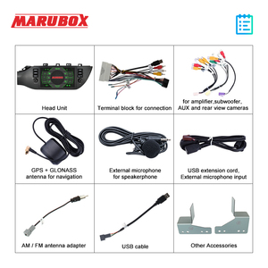 """Image 5 - Marubox KD9638 DSP, 64GB 1 Din Car Multimedia Player for Kia Rio 2017 +, 9"""" IPS Screen with GPS Navigation, Bluetooth, Android 9"""