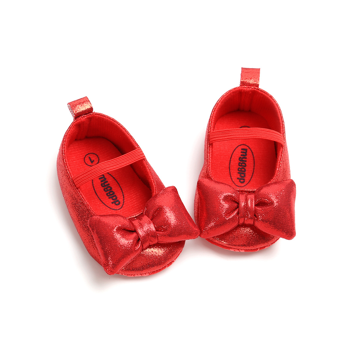 0-18M Big Autterfly Baby Girls Shoes Princess Shoes Soft Sole PU Soft Sole Non-slip Toddler Shoes Baby