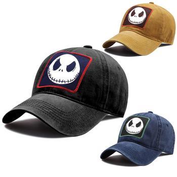цена на Jack Skull Printed Baseball Caps for Men Women Anime Baseball Cap Hip Hop Snapback Hat Unisex Cotton Trucker Hat Outdoor Dad Hat