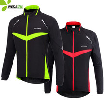 WOSAWE Windproof Waterproof Cycling jacket Long Sleeve Jersey Winter Autumn Warm Up Clothing Wear Reflective Jackets