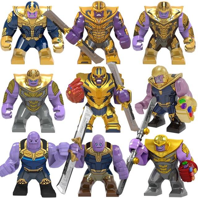 Big Size Ironman Endgame Thanos 7CM figures Infinity Gauntlet Sword mini Building Blocks bricks Toy For