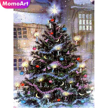 MomoArt DIY Diamond Painting Christmas Tree Embroidery Cartoon Mosaic Full Complete Kit Home Decor