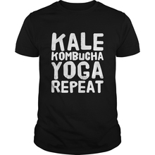 Men t shirt Short sleeve Yoga Kale Kombucha Yoga Repeat T-Shirt cool Women t-shirt tee tops