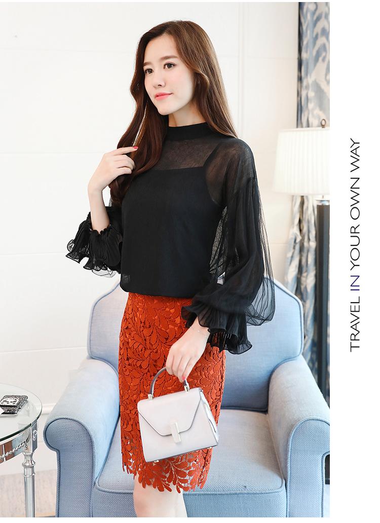 2019 Women tops and Blouses ruffless Summer autumn Long Sleeve White Shirt Casual Female Chiffon Blouse Women Clothing plus size 19