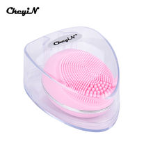 Mini Electric Sonic Face Cleansing Brush Silicone Facial Skin Scrubber Vibration Massage Pore Cleaner Blackhead Acne Removal 45 цена и фото