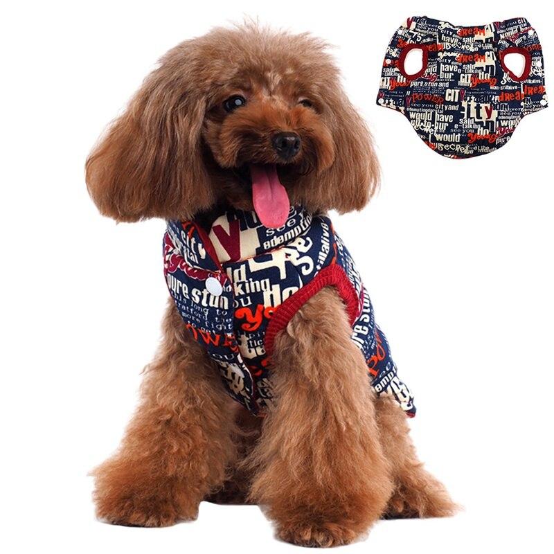 Одежда для собак, зимняя теплая куртка, одежда для чихуахуа, плюшевый Йоркширский буквенный принт, двусторонний жилет, пальто для домашних ж