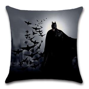 Фильмы-комиксы, эмблема Бэтмена, Чехол на подушку, украшение автомобиля для семьи, детей, мальчиков, подарки для спальни, подарки для друзей, удобные и мягкие