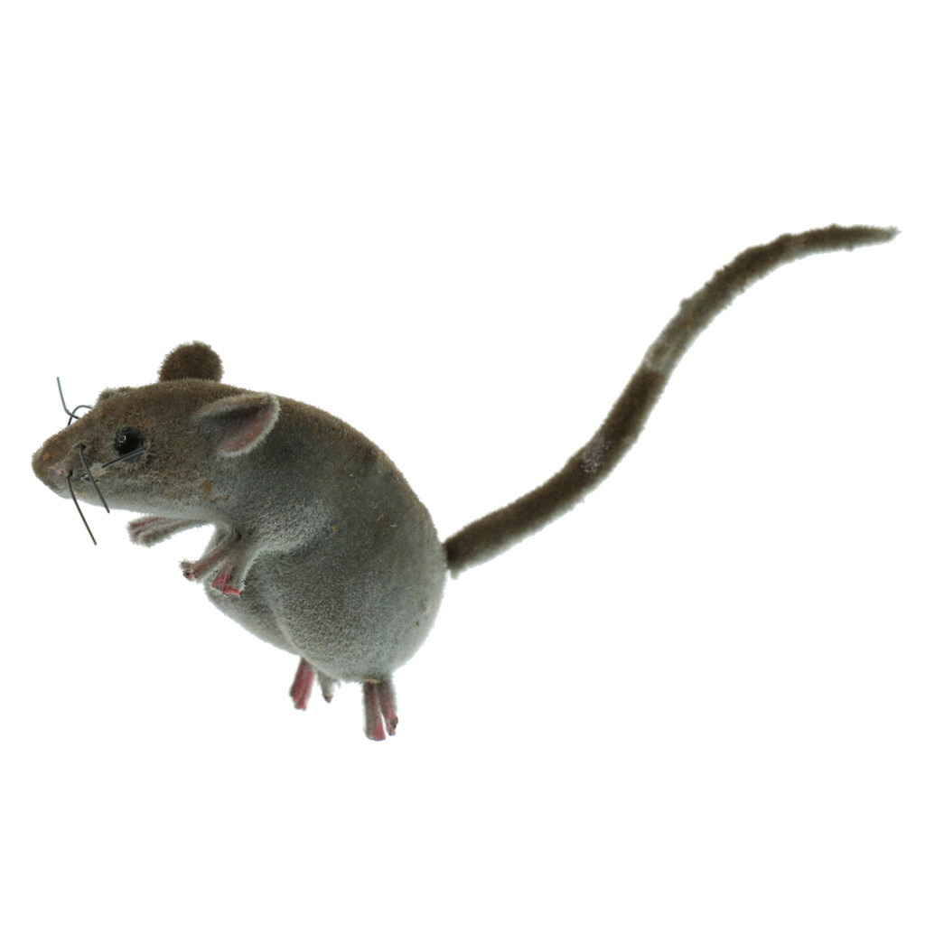 6x Realistic Mouse Ornament Spoof Animal Toy Patio Tree Lawn Mice Home Decor