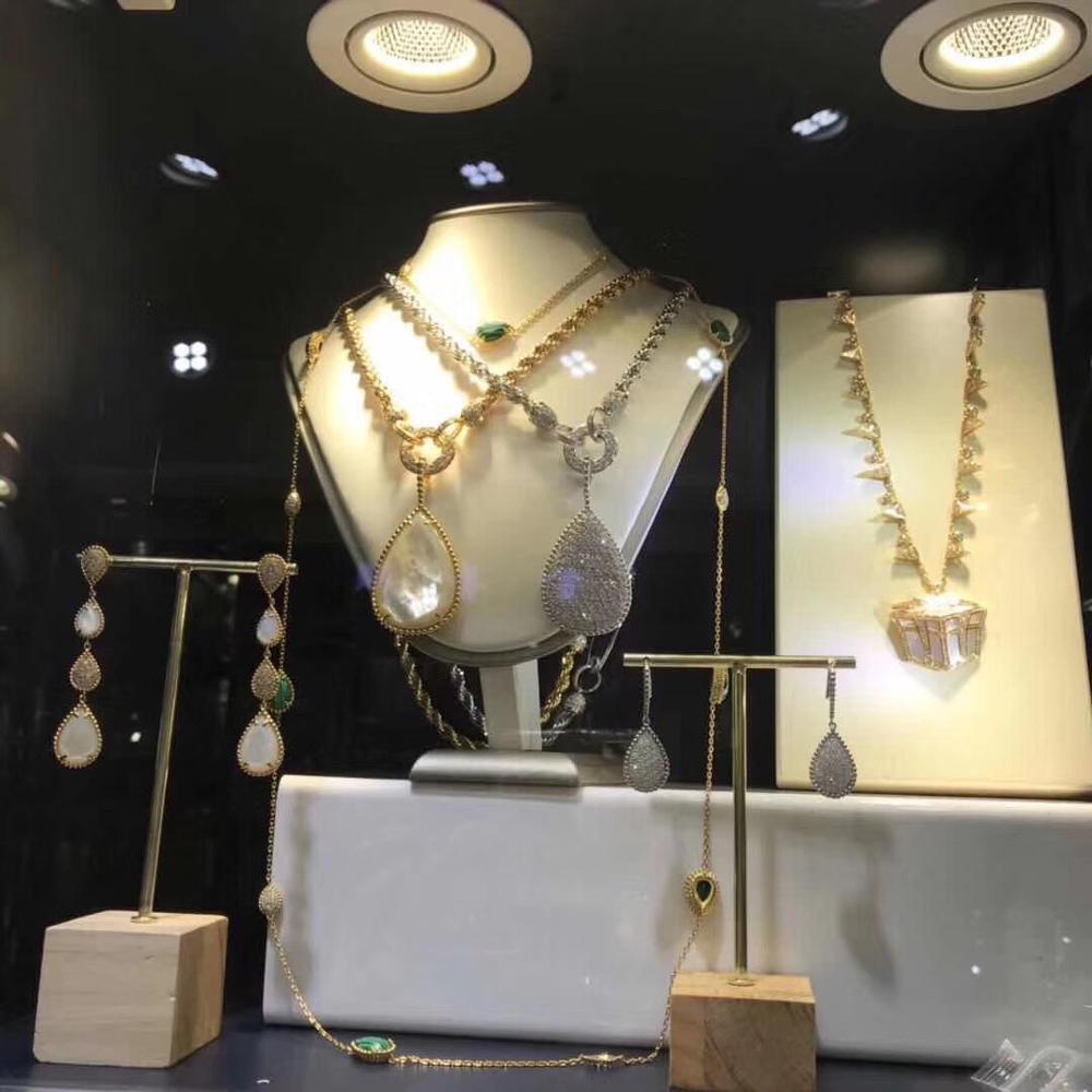 Accessoire mode goutte d'eau cubique Zircon cristal collier de mariée bijoux pour mariées cadeau fille accessoire