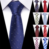 Wedding Mens Striped Plaid Pattern Business 100% Silk Tie Necktie for Men Luxury Jacquard Ties Accessories Mens classic ties