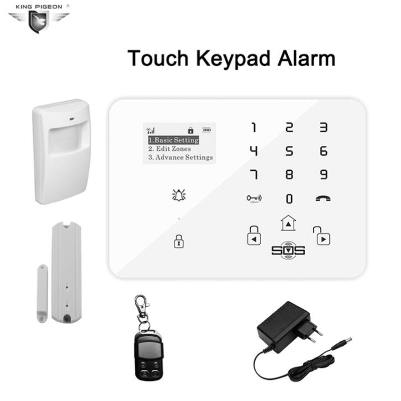 Wireless GSM 3G Alarm System For Home Security System Touch Keypad Burglar With PIR Motion Sensor Door Detector K9