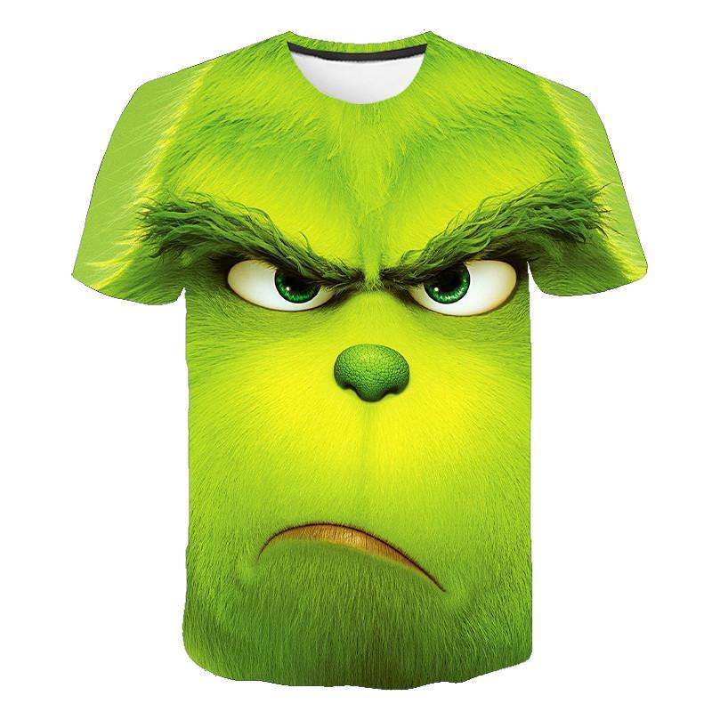 Новая футболка с 3D принтом, зеленая футболка с рисунком фильма, топ, модная футболка с милым рисунком животных для мужчин и женщин, модная од...