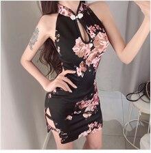 Традиционное китайское платье с вышивкой, женское платье с рукавом до локтя, винтажный стиль, Ципао, сексуальное платье Чонсам с цветами, тонкое вечернее платье