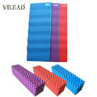 VILEAD XPE Egg Trough Outdoor Camping Mat 16mm Thickness Foldable Camping Pad Hike Mats for 1 Person for Tent Picnic 185*55cm
