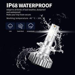 Image 5 - PAUNDUK bombilla de luz antiniebla para coche, minifaro LED Canbus H4 H7 ZES 4300K 6000K 8000K 16000LM 12V 24V H3 H1 9005 9006 HB4 H11