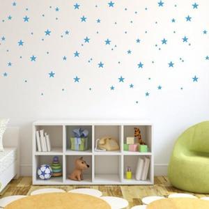 Набор из 50 наклеек на стену в виде звезд разных размеров, виниловые украшения для детской комнаты, спальни, с мультяшными звездами, небом, детской комнаты|Наклейки на стену|   | АлиЭкспресс