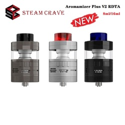 Original Steam Crave aromatizer Plus V2 RDTA 8 ml/16 ml capacidad atomizador con flujo de aire de relleno superior 510 rosca Vape Tank VS Zeus X