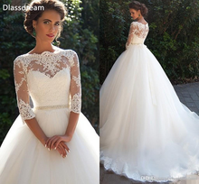 Женское свадебное платье с аппликацией топ вырезом лодочкой