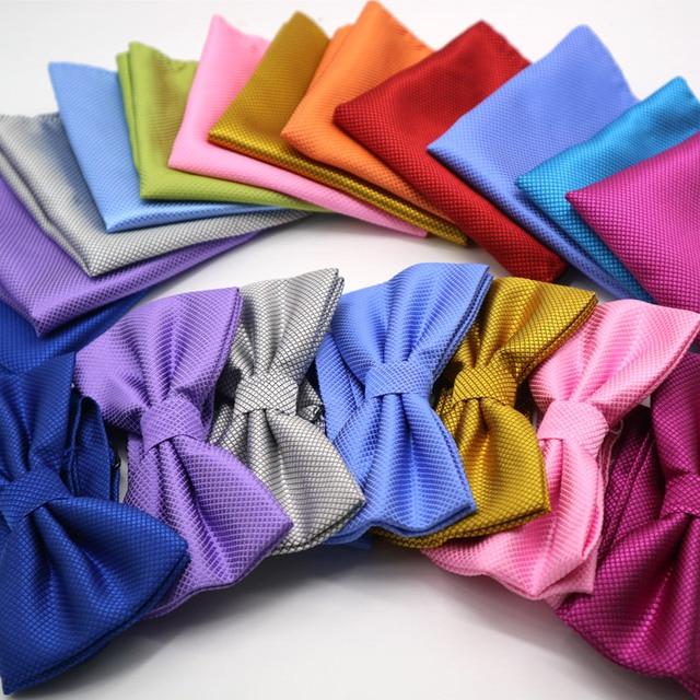 luxury Bright Silk Bow Ties 2 pcs Set 1
