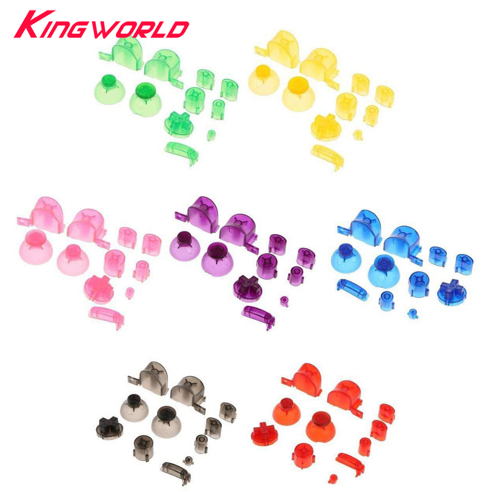 1set Buttons Keypads Analog Stick Cap Y X A B Z Replacement Buttons For N-GC G-amecube Controller Joystick