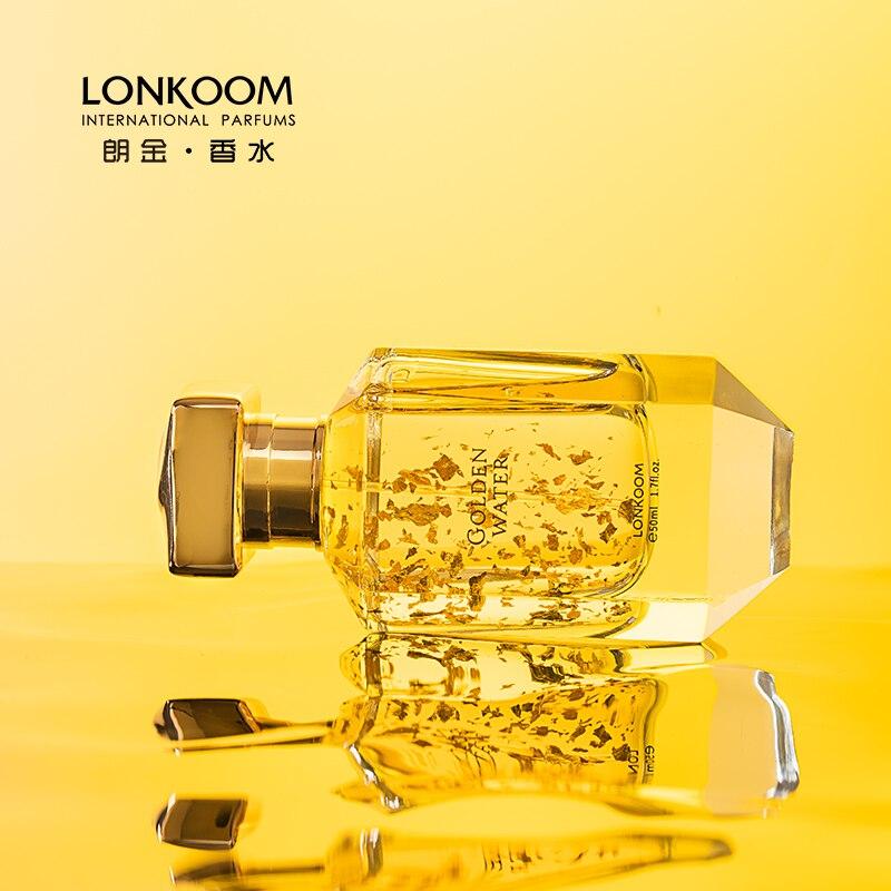 LONKOOM Floral fruchtigen Noten Goldene Wasser parfüm Für Frau 50ml Eau De Parfum