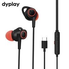 Aktywne słuchawki z redukcją szumów USB typ C słuchawki douszne z mikrofonem słuchawki stereofoniczne z ANC dla Huawei Xiaomi Samsung