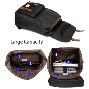 Image 4 - VASCHY 남자 배낭 학생 가방 대학 고등학교 가방 여행 가방 노트북 배낭 bookbag 여자 배낭