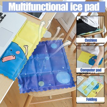 quicksand ice pad Summer Cartoon Gel Cooling Cushion Office Cool Ice Pad Rest Ice Pillow Car Mat 36X36cm Double-sided Recyclable image