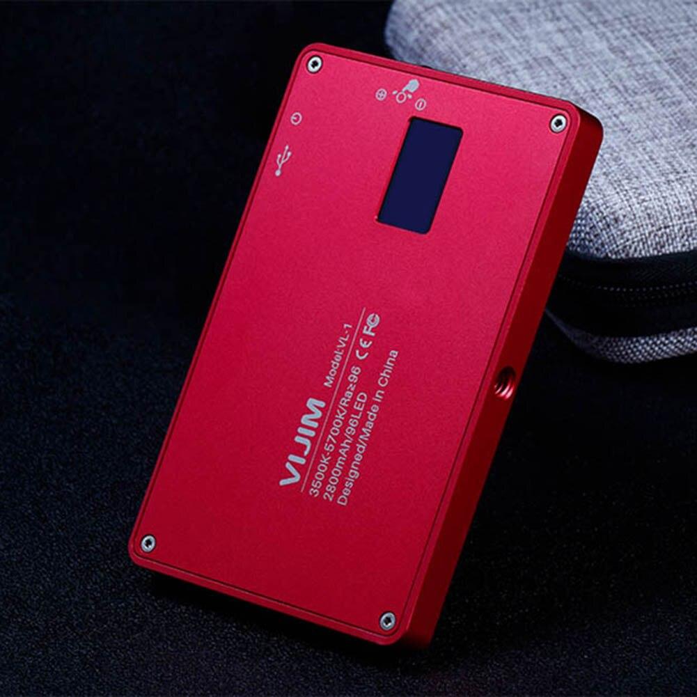 Mini téléphone lumière LED O LED écran 96 perles magnétique en alliage d'aluminium lampe Portable pour Selfie AS99