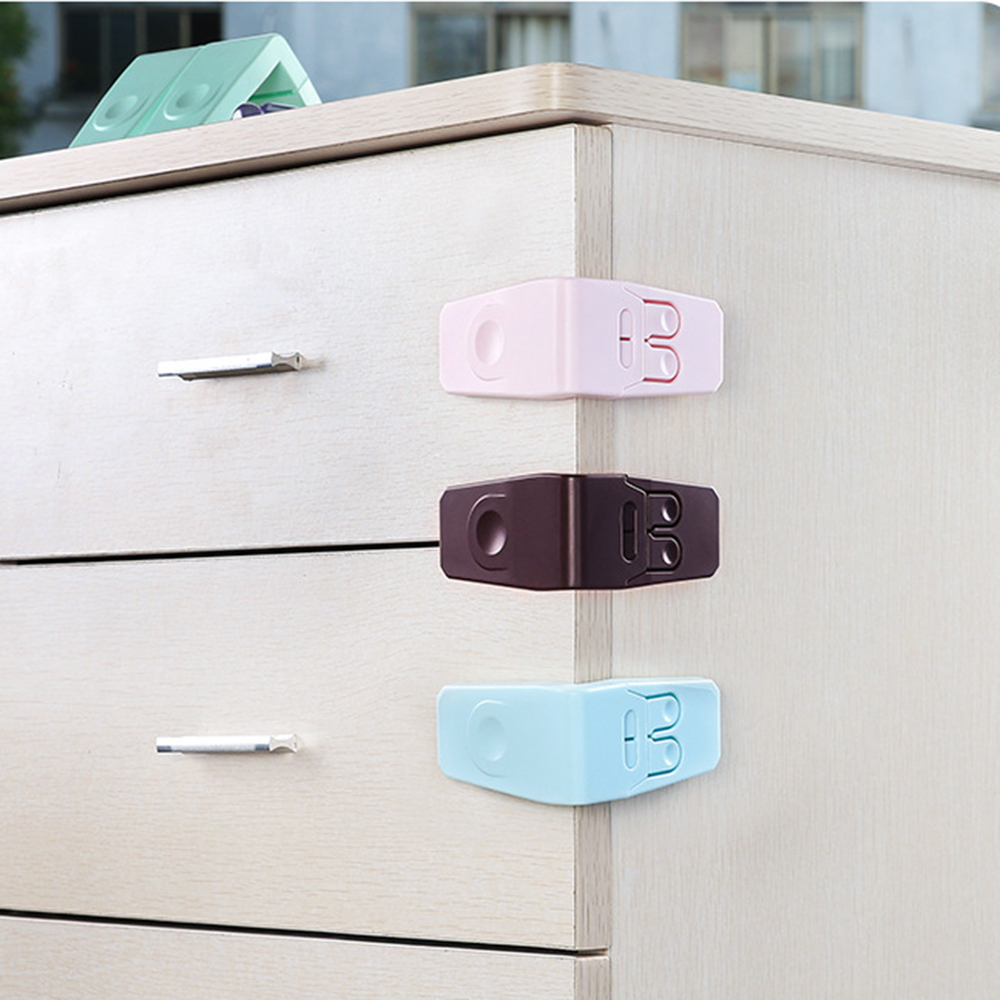 5pcs/set Plastic Baby Safety Protection Kids Children Cabinets Boxes Lock Drawer Door Security Lock Product Easy To Use