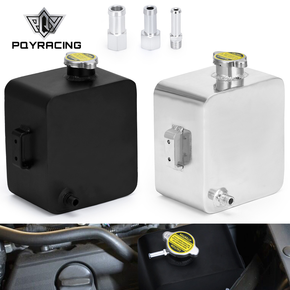 PQY - 2L литр полированный сплав головка расширительный резервуар для воды и крышка резервуар для воды резервуар для охлаждающей жидкости рез...