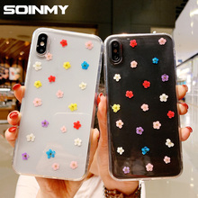 Redmi note 7 Real dried flowers case for