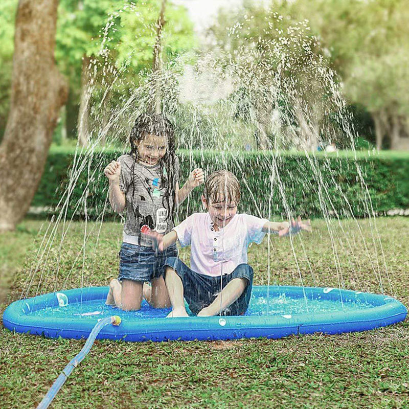 Newly Water Splash Sprinkler Pad Play Game Mat For Children Kids Summer Outdoor Party XSD88