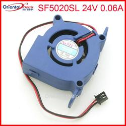 Darmowa wysyłka SF5020SL 24V 0.06A 5CM 50*50*20mm 2Pin dla Ultra cichy nawilżacz Turbo wentylator