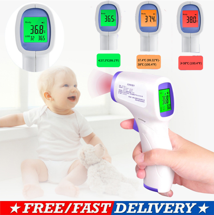 PUDCOCO Electronic Thermometer Without Battery LCD Digital Non-contact IR Infrared Thermometer Forehead Temperature Meter