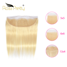 Lace closure 5x5 6x6 13x4 Straight  Blonde Pre Plucked Hair 613 Ross Pretty Remy High Ratio Brazilian Human Hair ross pretty remy hair kim k closure 2 6 brazilian straight hair lace closure human hair pre plucked with baby hair
