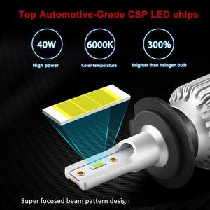 Image 5 - 2 Chiếc H1 LED 13000LM Mini Bóng Đèn Pha H7 LED H4 H8 H9 H11 Đèn Pha Bộ 9005 HB3 9006 HB4 9012 Tự Động Đèn LED Ánh Sáng