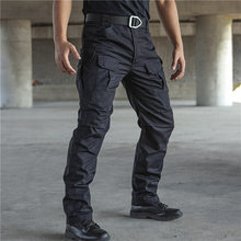 Çok cep taktik pantolon erkek su geçirmez savaş Joggers erkek SWAT kargo anti-boncuklanma streç çalışma pantolon Hombre boyutu s-2XL