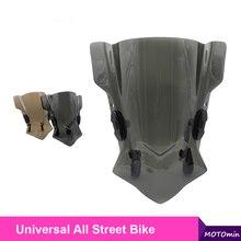 Evrensel motosiklet cam rüzgar deflektör ayarlanabilir braketi ile BMW için Fit Honda Yamaha Kawasaki Suzuki
