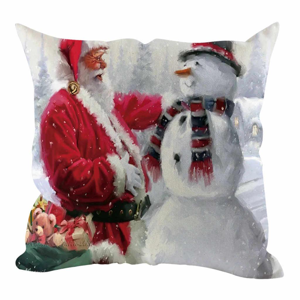 Bantal Case 2020 Baru Natal Dekoratif Sofa Rumah Decorationcushion Cover Housse De Coussin Cojines Kussenhoes