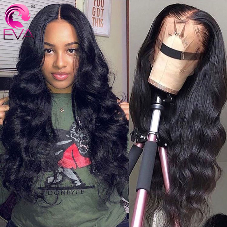 Eva 360 Lace Frontal Wig Pre Plucked With Baby Hair Brazilian Body Wave Lace Front Human Hair Wigs For Black Women Remy Hair Wig