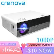 CRENOVA أحدث كامل HD 1080P قرار البدني الروبوت 8.0 OS عارض فيديو مع 5G WIFI دعم 4K جهاز عرض (بروجكتور) ليد Q9