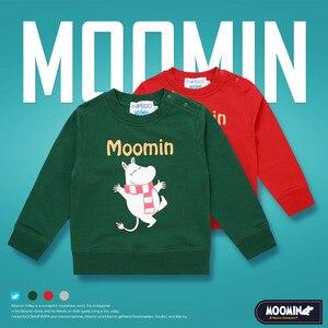 Image 1 - Moomin spring summer long sleeve thick tshirt cartoon Chrismas Finland cotton tshirt green o neck