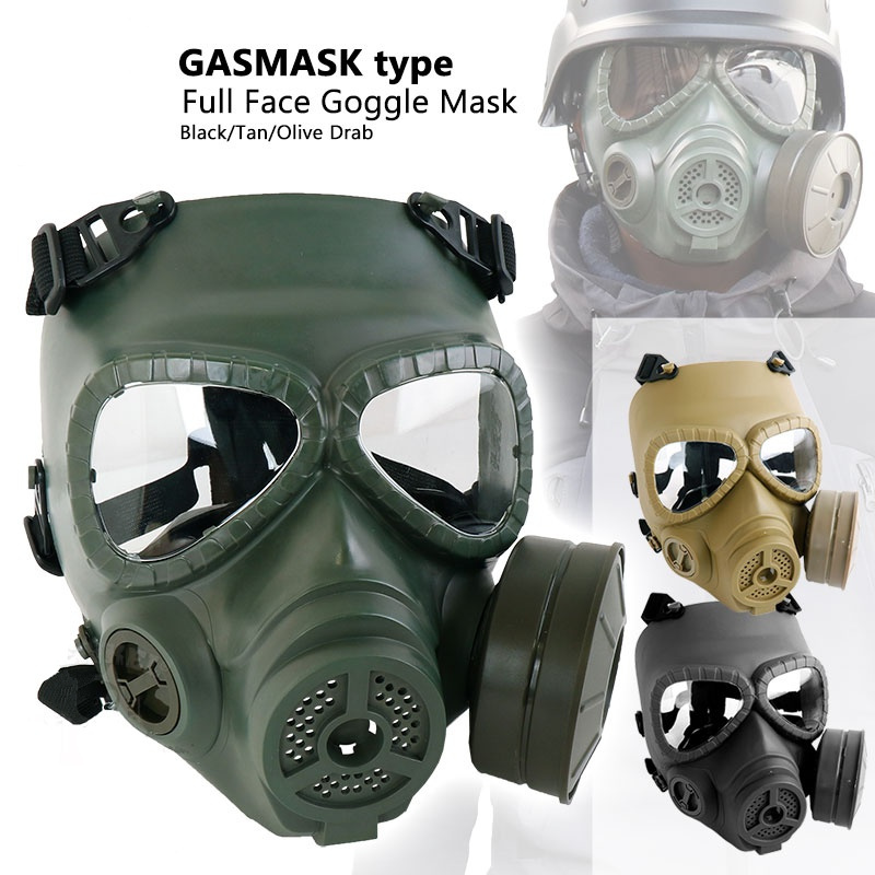 Airsoft Paintball Mask M04 Army Military Gas Mask Full Face Goggle Tactical Masks Skull Dummy Wargame Hunting Mask